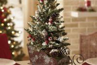 Elegant And Beautiful Tabletop Christmas Tree Centerpieces Ideas 30