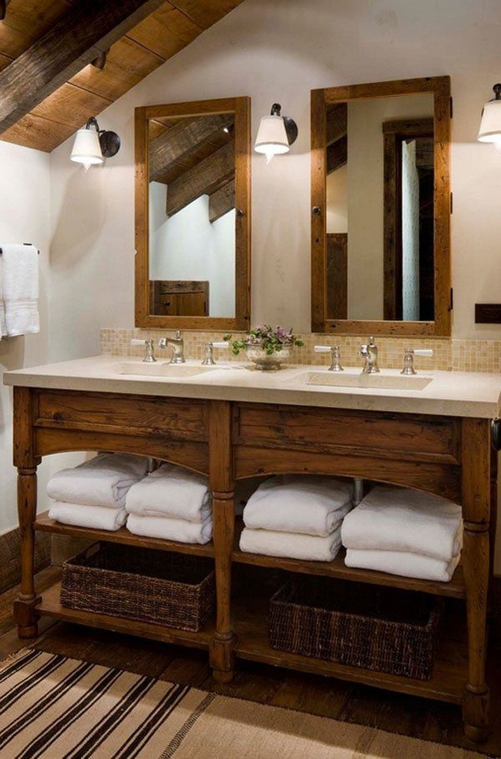 Cool Rustic Modern Bathroom Remodel Ideas 04