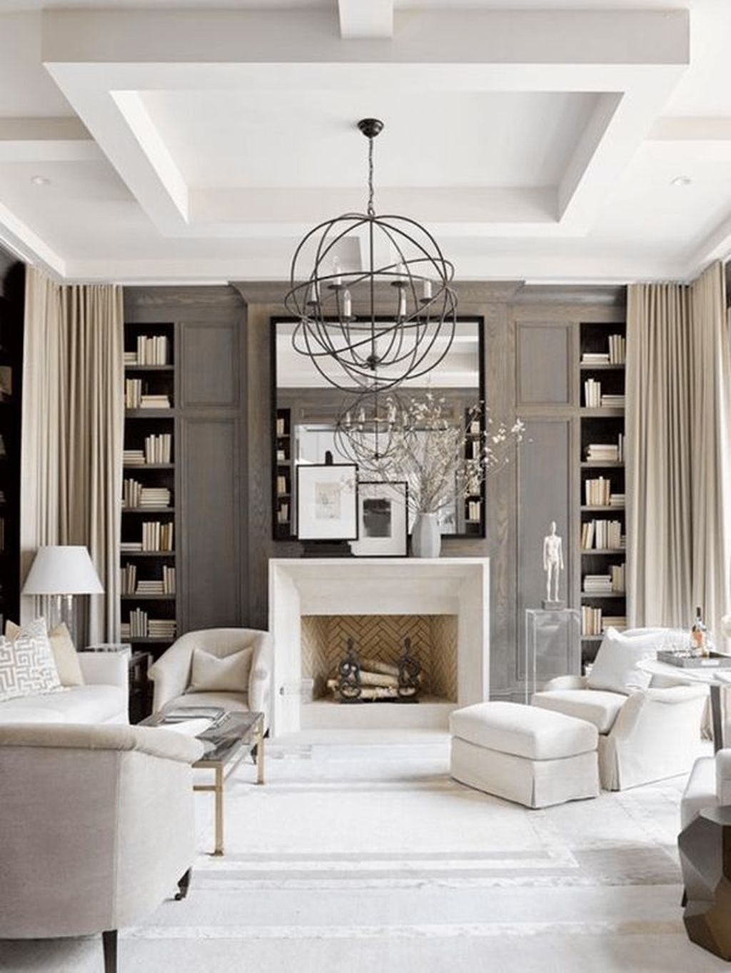 Best Winter Living Room Decoration Ideas 05