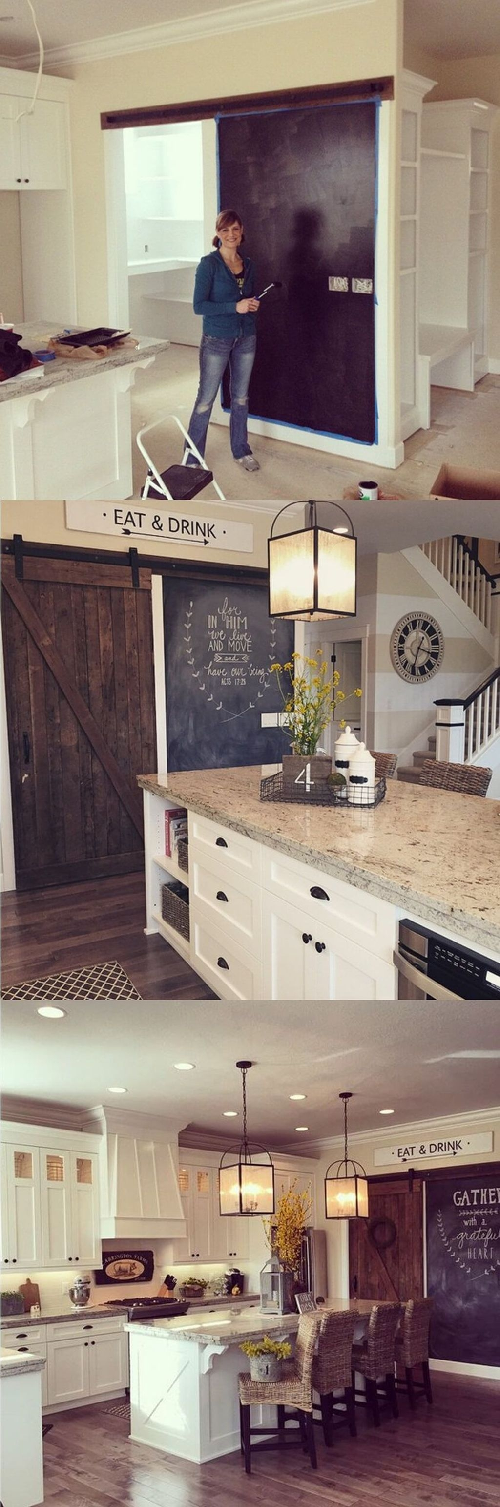 Stylish Rustic Kitchen Apartment Decoration Ideas 36