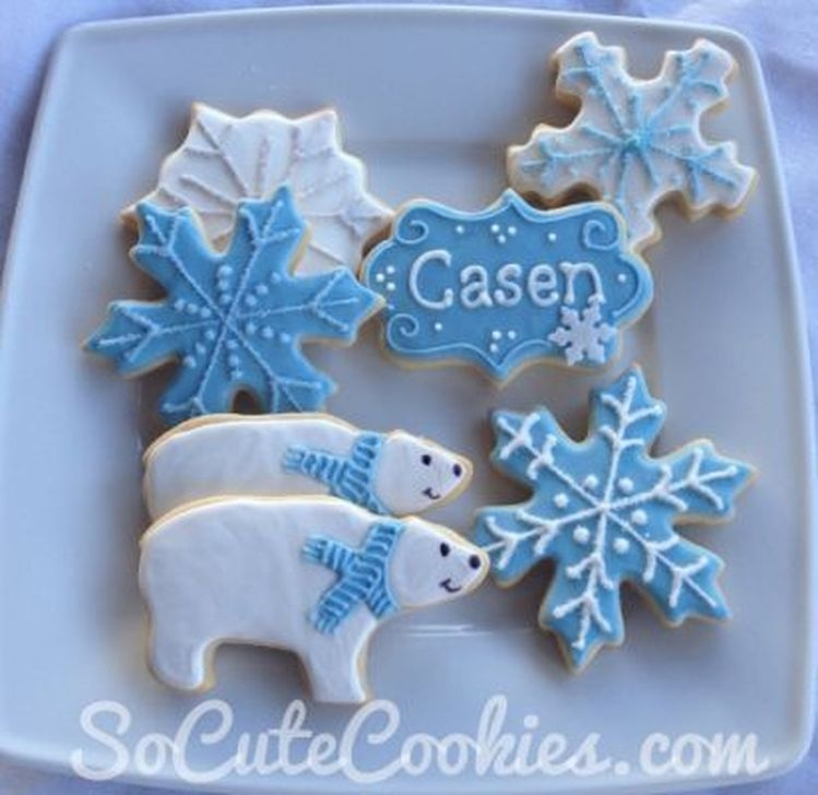 Charming Winter Themed Baby Shower Decoration Ideas23