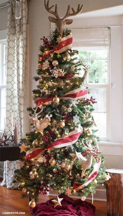 Gorgeous Rustic Christmas Tree Decoration Ideas38