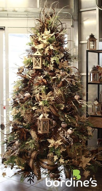 Gorgeous Rustic Christmas Tree Decoration Ideas42