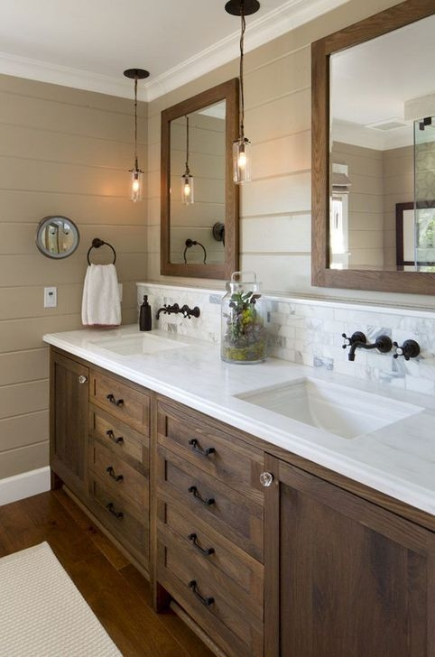Cute Farmhouse Bathroom Remodel Ideas On A Budget08
