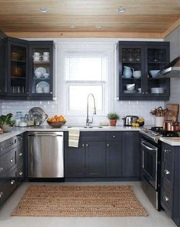 Amazing Kitchen Color Scheme Ideas For Dark Cabinets 07