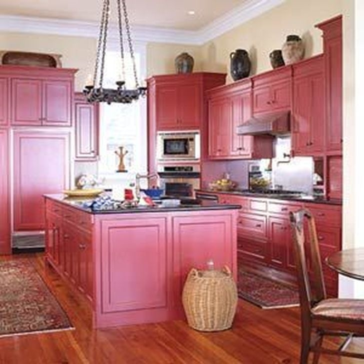 Amazing Kitchen Color Scheme Ideas For Dark Cabinets 44