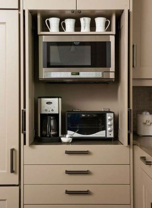 Pretty Hidden Storage Ideas For Kitchen Decor 16