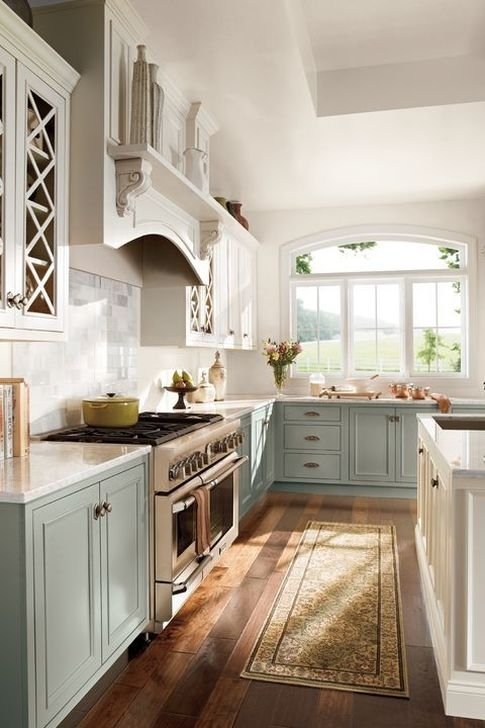 Fancy Painted Kitchen Cabinets Design Ideas With Two Tone 02