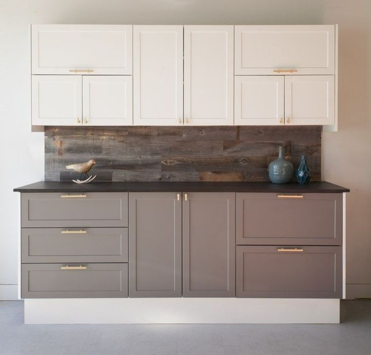 Fancy Painted Kitchen Cabinets Design Ideas With Two Tone 13