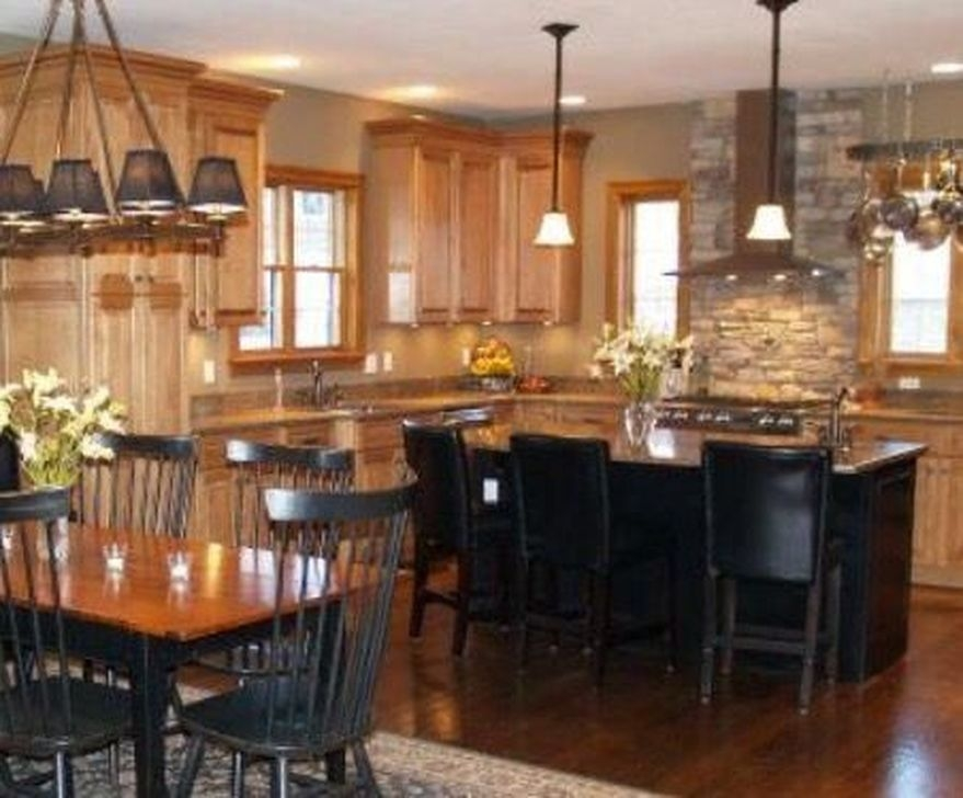 Fancy Painted Kitchen Cabinets Design Ideas With Two Tone 15