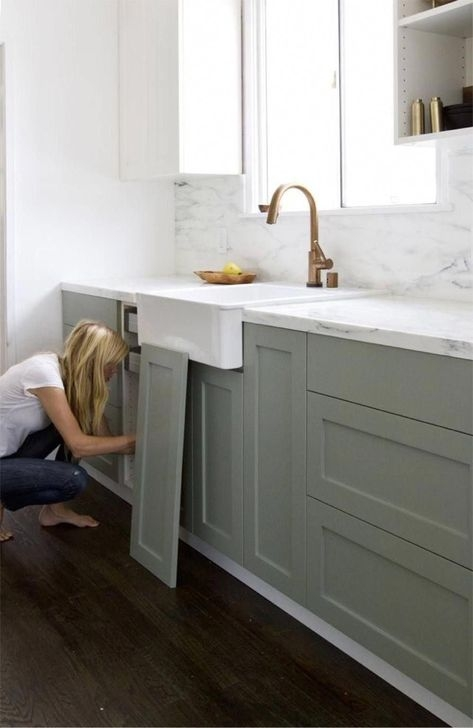 Fancy Painted Kitchen Cabinets Design Ideas With Two Tone 39