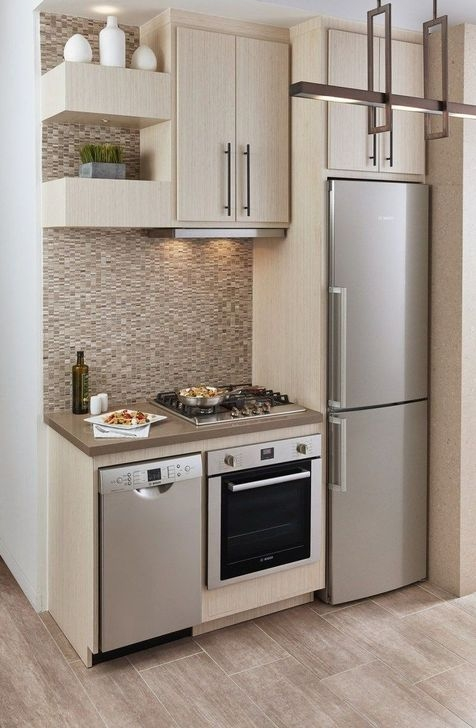 Trendy Tiny Kitchen Design Ideas That Looks Elegant 25